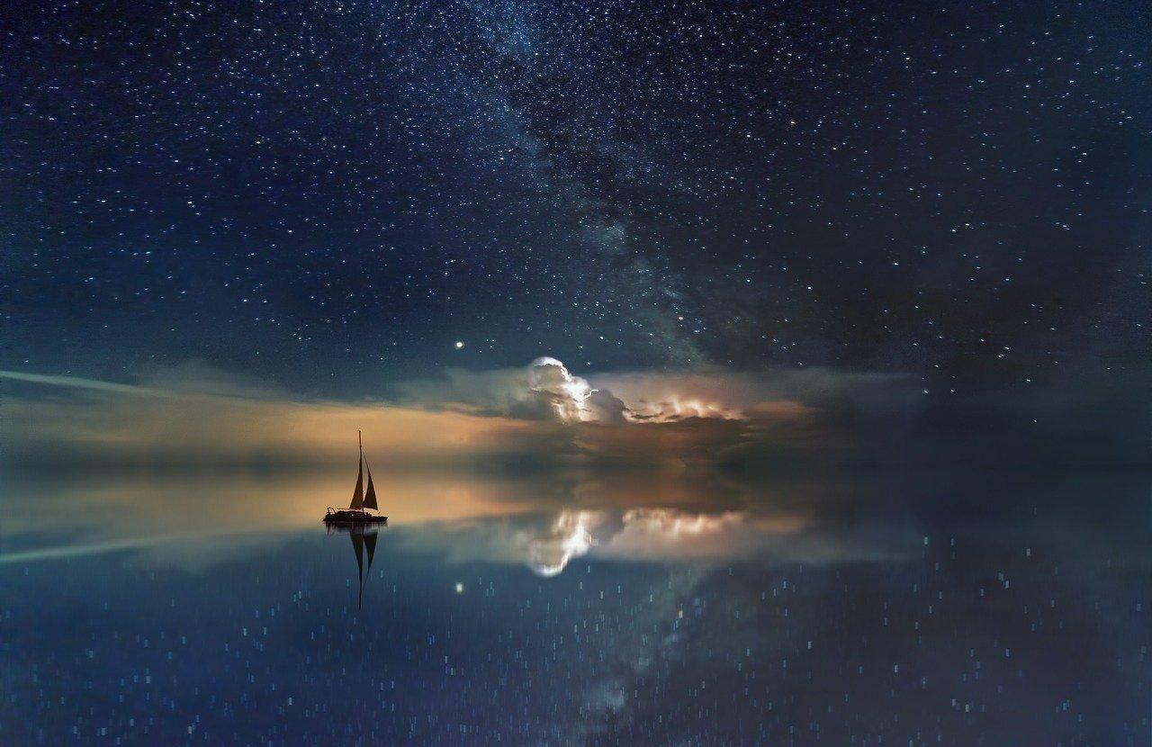 ocean, milky way, boat-3605547.jpg